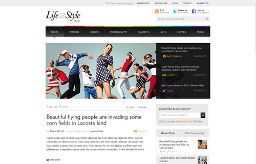 Lifestyle - An online magazine oriented WordPress theme that also fits perfectly as a news, fashion or even a celebrity & gossip blog.