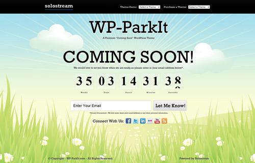 WP-ParkIt 'Coming Soon' Premium WordPress Theme