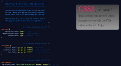 10 Najkorisnijih CSS3 Generatora – za Čist Kod! I Deo