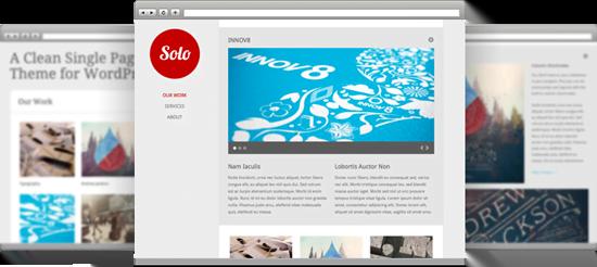 Single Page Portfolio Tema za WordPress: Solo