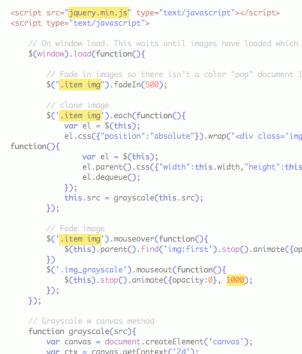 HTML5 Crno-Beli Prelaz Mišem Preko Slike