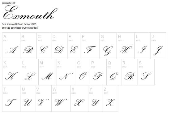 Besplatnih 30 Pisanih Fontova