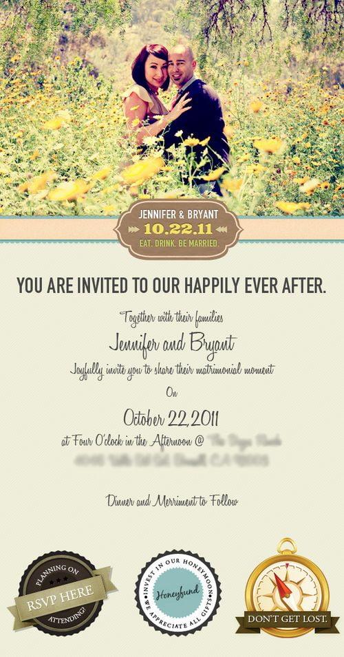 50 Prelepih Pozivnica za Venčanje