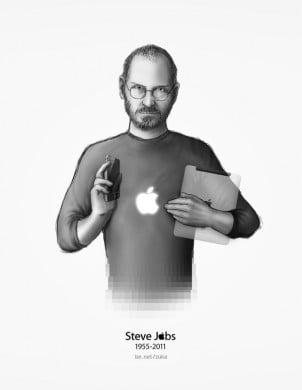 Digitalna Umetnička Dela u čast Steve Jobs-a