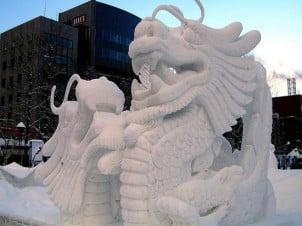 Zimska Inspiracija, Fantastične Skulpture od Snega