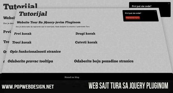Pravljenje Web Sajt Ture Koristeći jQuery
