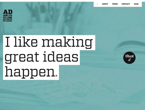 21 Primer  Dizajna za Web Sajt sa Jednom Stranicom