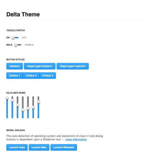 Delta jQuery Theme