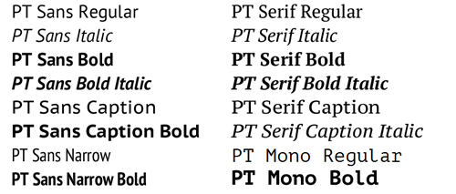 PTsans cyrillic font