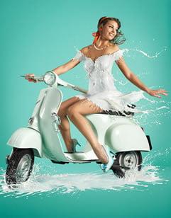 Fantastične Fotografije Modela sa Haljinama od Mleka