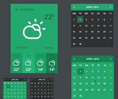 Besplatni Flat UI Setovi za Web Dizajnere
