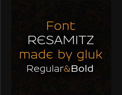 Resamitz Free Font