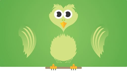 Green bird design