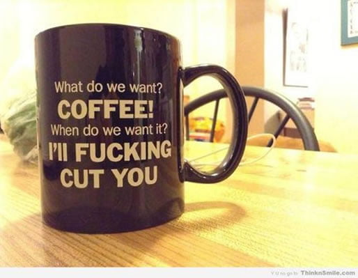 Funny text on mug