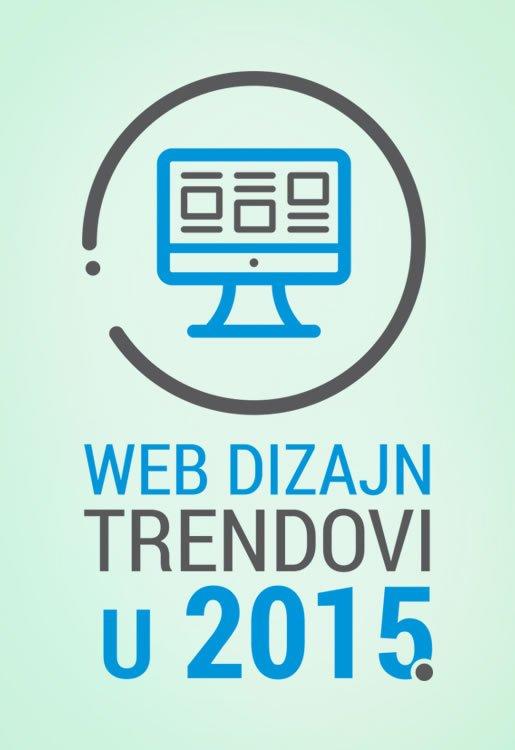 Web dizajn trendovi u 2015