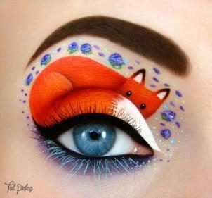 Šminkerka koja koristi oči kao umetničko platno