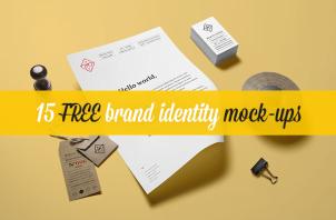 15 Free Brand Identity Mock-ups