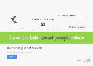 Šta se desi kada internet provajder zakaže