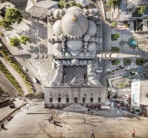 Pogled na Istanbul iz iskrivljene foto perspektive