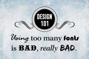nemojte koristiti previše fontova