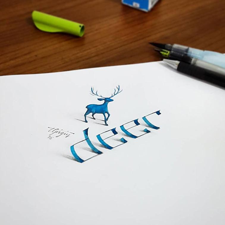Turski dizajner stvara 3D kaligrafske crteže