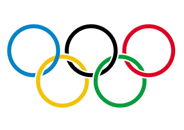 olympic rings on white