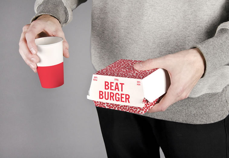 dizajn etikete za burger od cvekle - meni