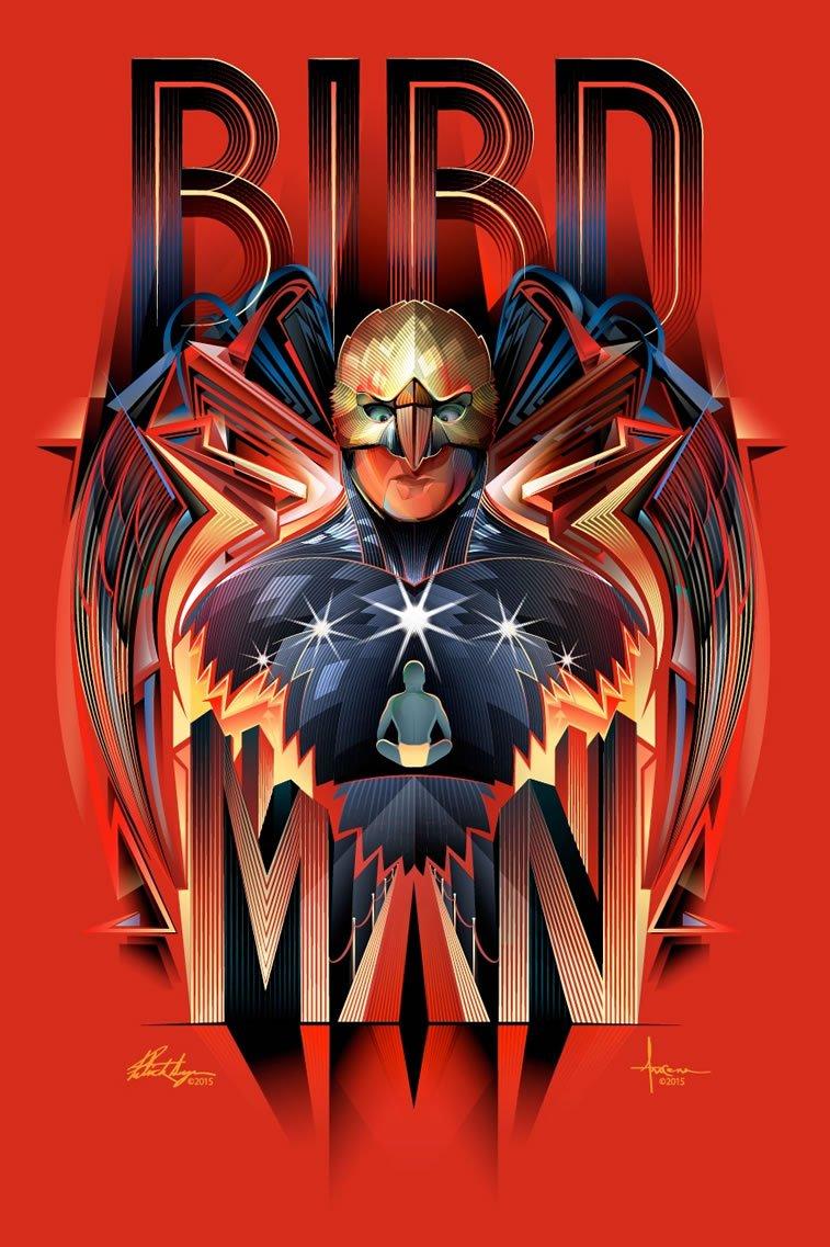 birdman poster by patrick seymour and orlando arocena