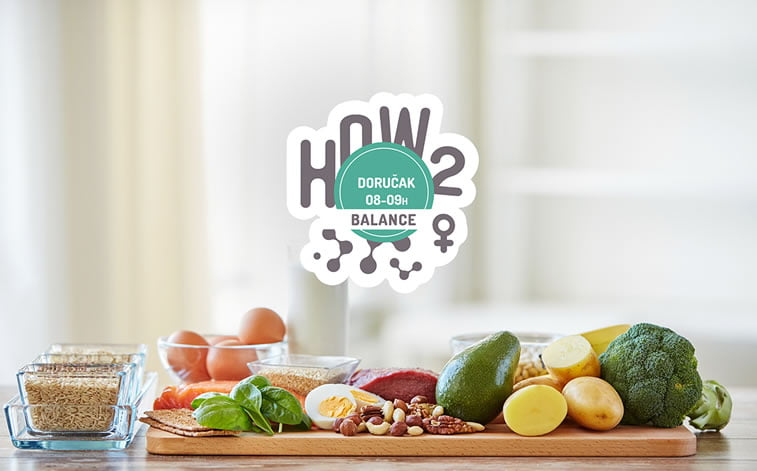 "etiketa za zdravi organski doručak ""how2fit"""
