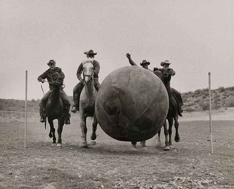 kauboji se igraju u Feniksu 1955.