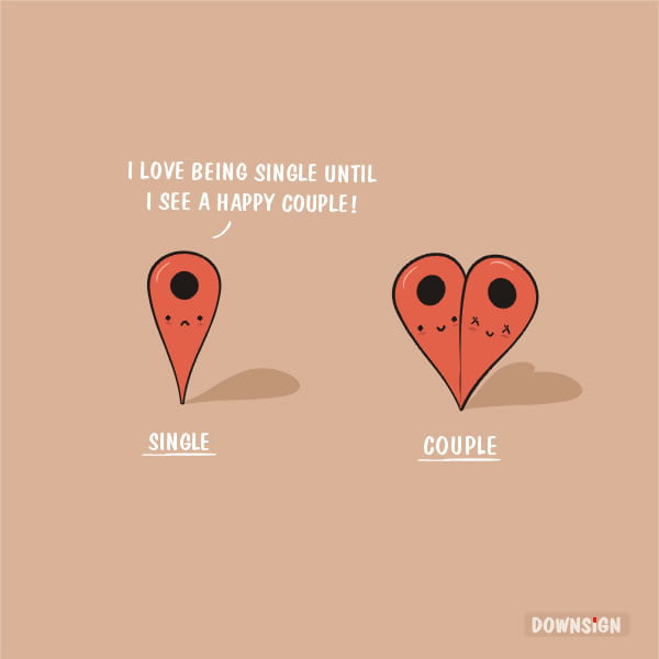 single and couple