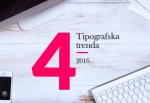 tipografski trendovi 2016