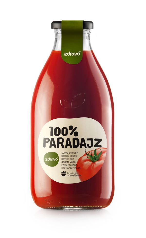 dizajn etikete za zdravo paradajz