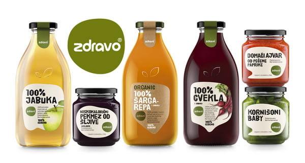 dizajn etikete za organske proizvode zdravo