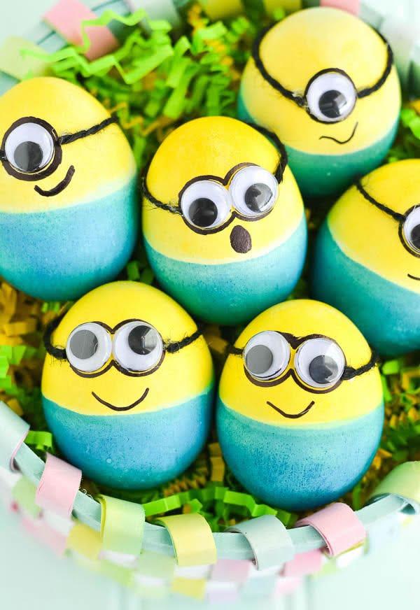 Ideje za ukrašavanje uskršnjih jaja (20) minions minioni malci