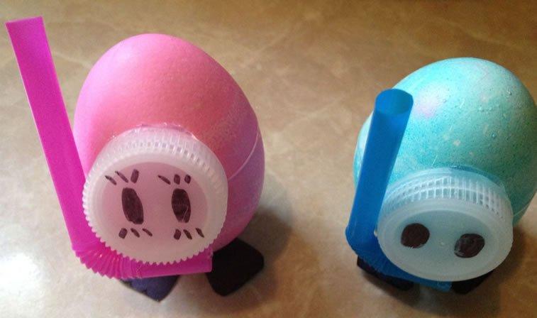 Ideje za ukrašavanje uskršnjih jaja (23) praseće njuškice