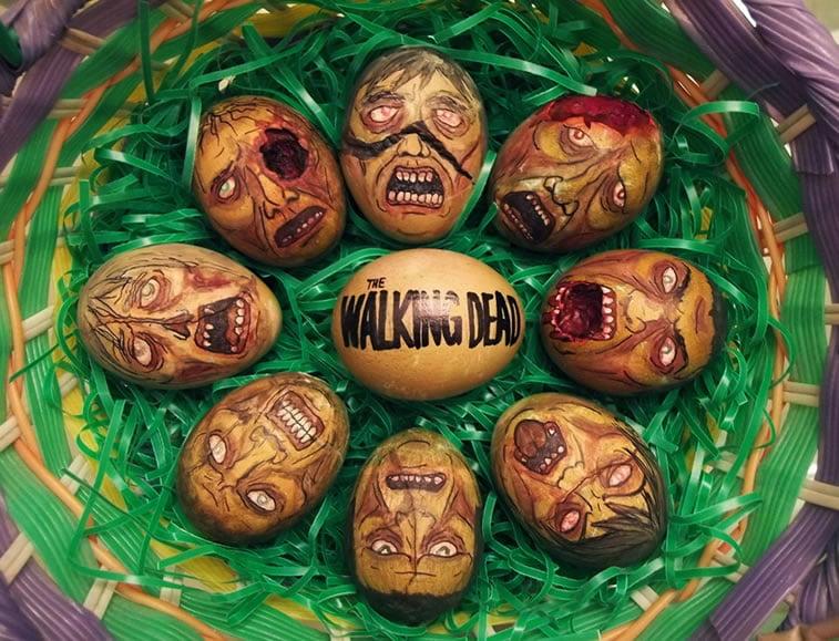 Ideje za ukrašavanje uskršnjih jaja (28) the walking dead živi mrtvaci