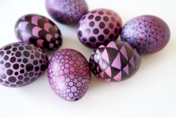 Ideje za ukrašavanje uskršnjih jaja (30) tušem šarana jaja