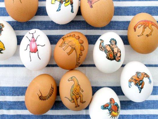 Ideje za ukrašavanje uskršnjih jaja (31) tetovaže na jajima