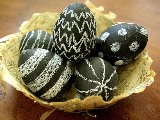 Ideje za ukrašavanje uskršnjih jaja (34) farba za jaja kao školska tabla