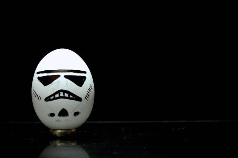 Ideje za ukrašavanje uskršnjih jaja (35) storm trooper