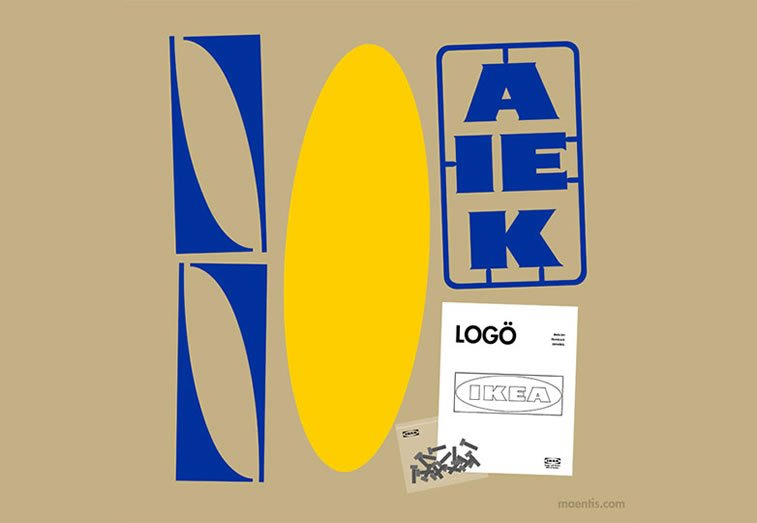 Logo design Universal Unbranding Project by Maentis (10) assemble IKEA logo