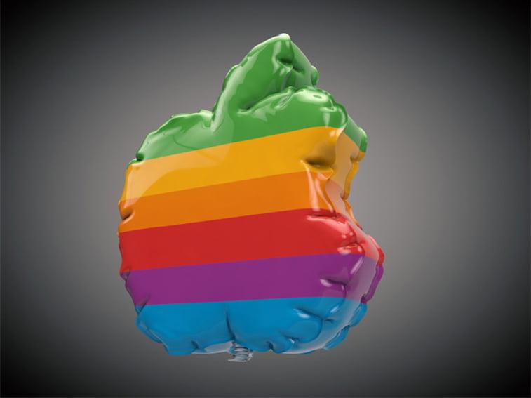 brand design 3D inflatable artwork by vinicius araujo (3) apple logo