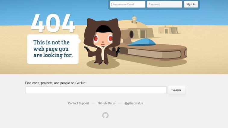 greška 404 stranica nije pronađena github