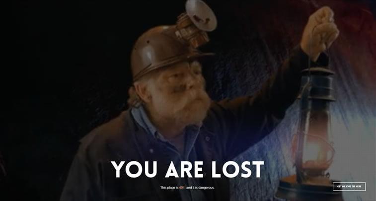 odlična greška 404 na sajtu minethemes