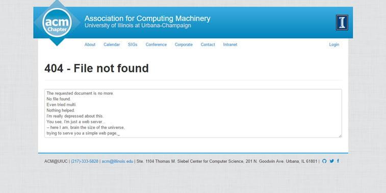 strana 404 nije pronađena acm