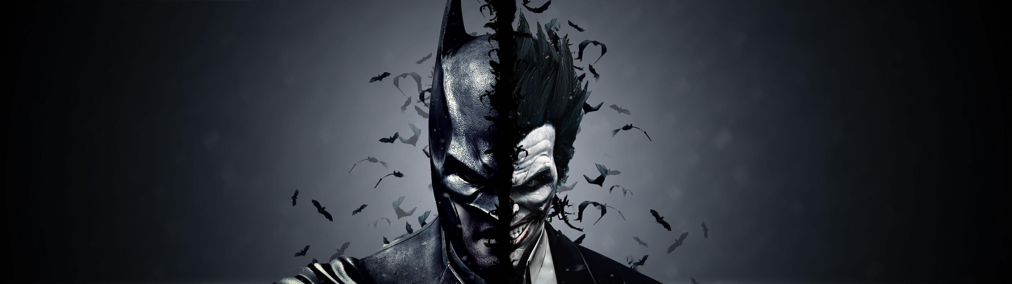 besplatne pozadine za dva monitora batman & joker