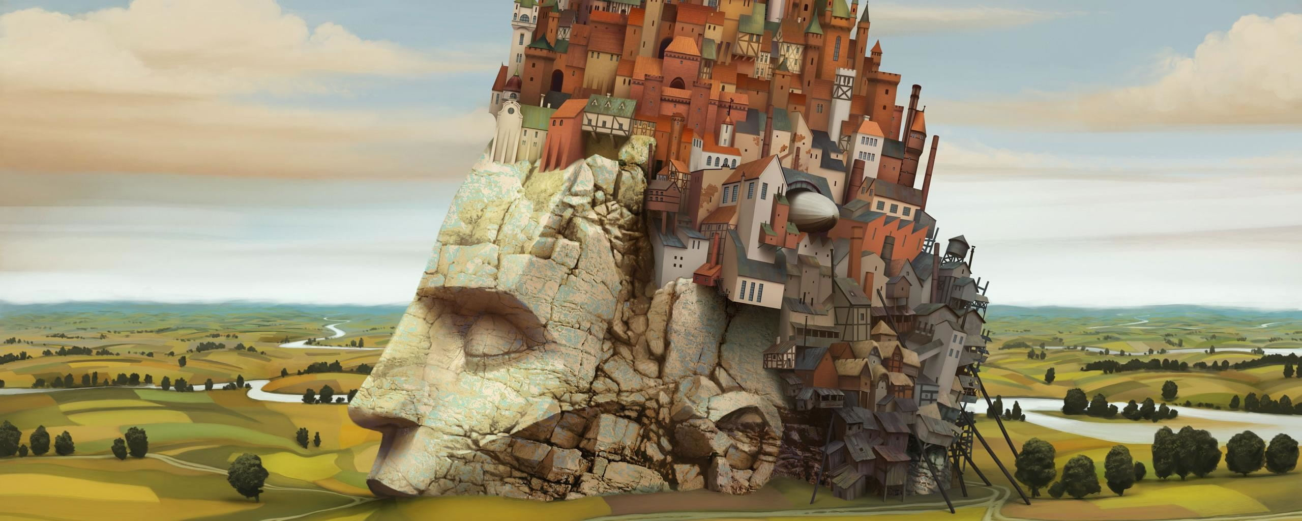 besplatne pozadine za dva monitora stone head city