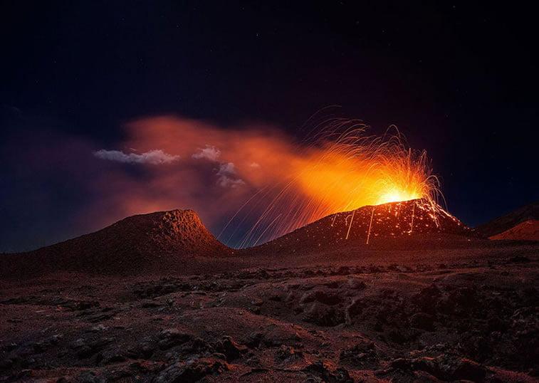 Erupcija vulkana, Reinion