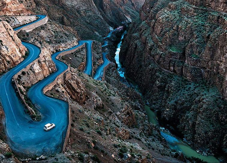 Krivudavi put, Maroko